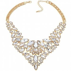 "Statement Goldtone 18"" Necklace WEDDING"